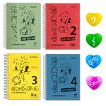 DAS DING Bände 1 2 3 4 mit Noten und 4 Multi Coloured Paper Clips