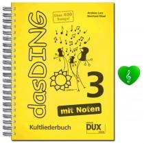 Das Ding Band 3 mit Noten und bunter herzförmiger Notenklammer