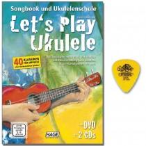 Let's Play Ukulele mit 2 CDs, DVD und Origanal DUNLOP Plektrum *