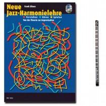 Neue Jazz-Harmonielehre mit 2 CD und Musik-Bleistift