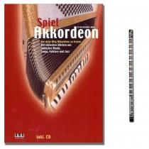 Spiel Akkordeon Peter Michael Haas mit CD und Musik-Bleistift