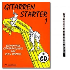 Gitarrenstarter Band 1 mit CD von Hartog Cees mit Musik-Bleistift