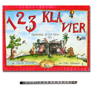 1 2 3 KLAVIER Heft 1 mit CD und Piano-Bleistift