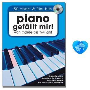 Piano gefällt mir! Band 1 mit CD und  bunter herzförmiger Notenklammer