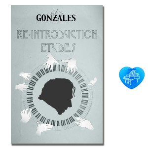 Chilly Gonzales Re-Introduction Etudes mit bunter herzförmiger Notenklammer