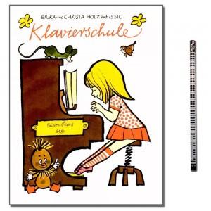 Erika Holzweißig Klavierschule mit Piano-Bleistift