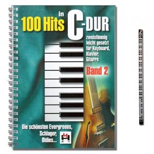 100 Hits in C-Dur Band 2 mit Musik-Bleistift Verlag Nr. BOE7743